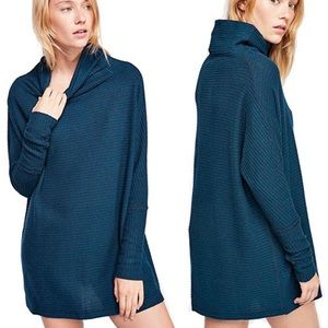 Free People | Kitty Thermal Cowl Neck Tunic Top